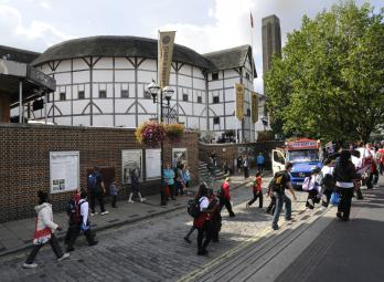 These are photos of the Bankside area of Southwark Borough in the city City of London. This mile long stretch of the south side of the Thames River was the original home of the Globe Theatre and is now an up and coming arts neighborhood.